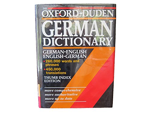 9780198641711: The Oxford-Duden German Dictionary: German-English/English-German with thumb index