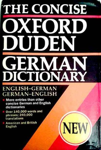 9780198641803: The Concise Oxford Duden German Dictionary