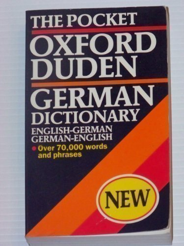 9780198642008: The Pocket Oxford-Duden German Dictionary