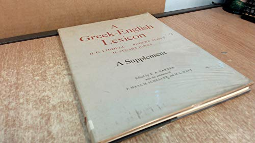 9780198642107: A Greek-English Lexicon: A Supplement