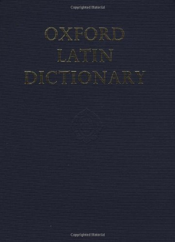 9780198642244: Oxford Latin Dictionary