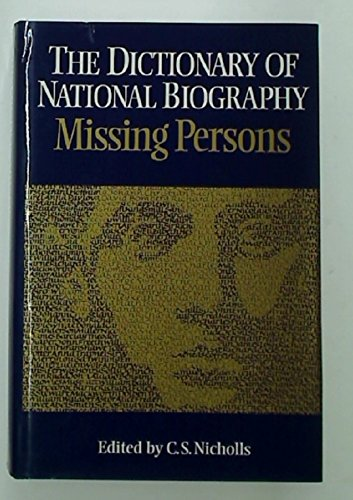 9780198652113: The Dictionary of National Biography: Missing Persons