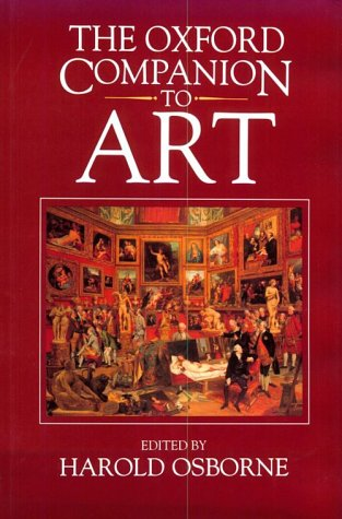 9780198661078: The Oxford Companion to Art
