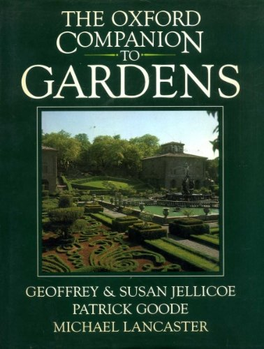 The Oxford Companion to Gardens: Jellicoe, Geoffrey and