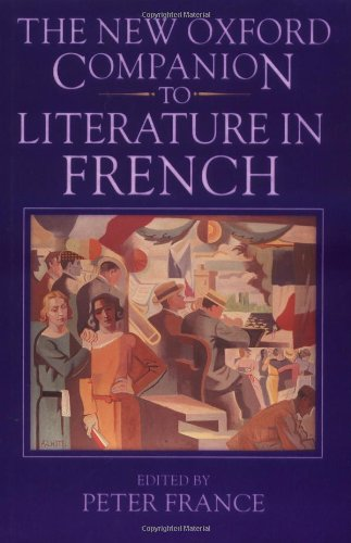 9780198661252: The New Oxford Companion to Literature in French