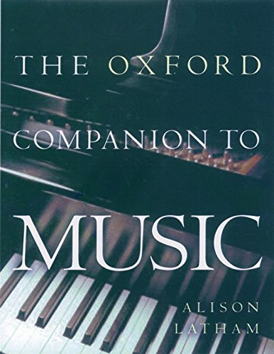 9780198662129: The Oxford Companion to Music