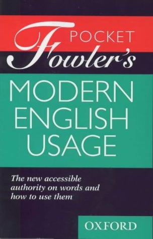 9780198662372: Pocket Fowler's Modern English Usage
