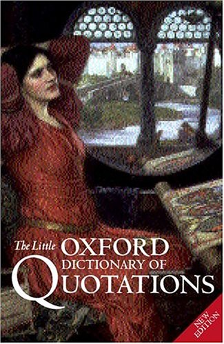 9780198662662: The Little Oxford Dictionary of Quotations