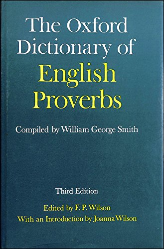 9780198691181: The Oxford Dictionary of English Proverbs