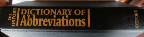 9780198691723: The Oxford Dictionary of Abbreviations