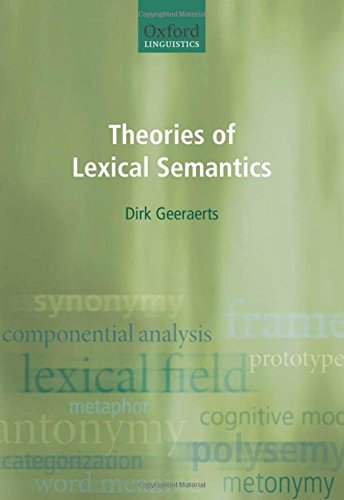 9780198700302: Theories of Lexical Semantics (Oxford Linguistics)