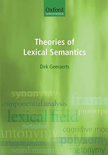 9780198700319: Theories of Lexical Semantics