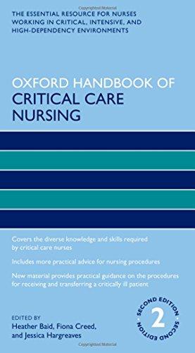 9780198701071: Oxford Handbook of Critical Care Nursing (Oxford Handbooks in Nursing)