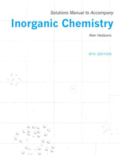 Solutions Manual To Accompany Inorganic Chemistry