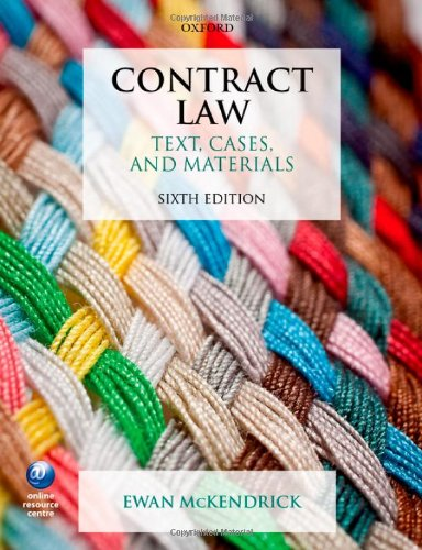 9780198701989: Contract Law: Text, Cases, and Materials
