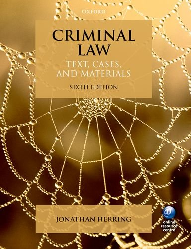 9780198702276: Criminal Law: Text, Cases, and Materials