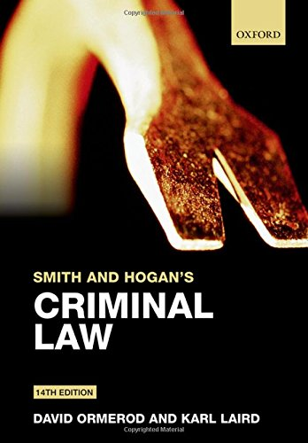 9780198702313: Smith and Hogan's Criminal Law