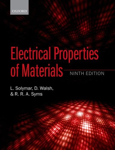 9780198702771: Electrical Properties of Materials