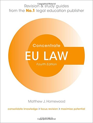 9780198703730: EU Law Concentrate: Law Revision and Study Guide