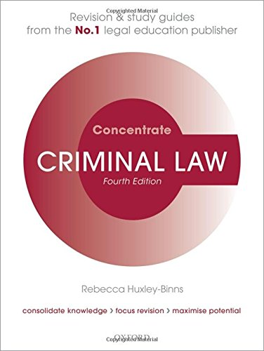 9780198703754: Criminal Law Concentrate: Law Revision and Study Guide