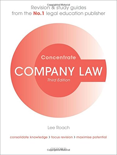 9780198703808: Company Law Concentrate: Law Revision and Study Guide