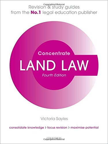 9780198703815: Land Law Concentrate: Law Revision and Study Guide