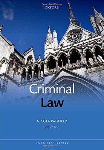 9780198704164: Criminal Law 9/e (Core Texts Series)