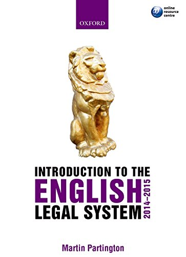 Introduction to the English Legal System 2014-2015: partington