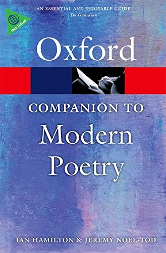 9780198704850: The Oxford Companion to Modern Poetry in English (Oxford Quick Reference)