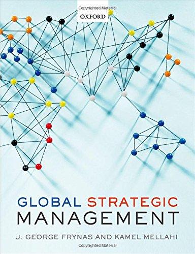 9780198706595: Global Strategic Management