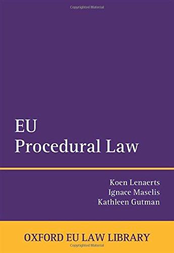 9780198707332: EU Procedural Law