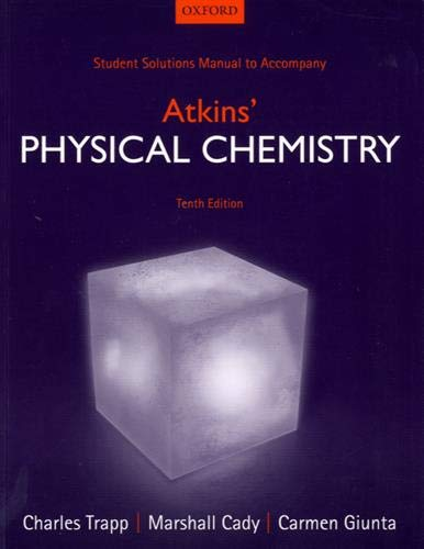 9780198708001: Student Solutions Manual to accompany Atkins' Physical Chemistry 10th edition