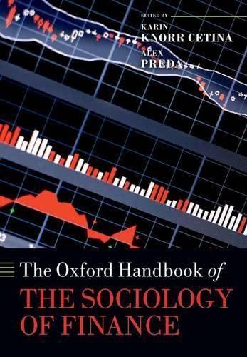 9780198708773: The Oxford Handbook of the Sociology of Finance (Oxford Handbooks)