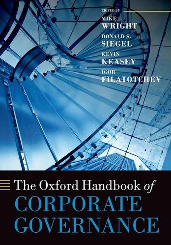 9780198708810: The Oxford Handbook of Corporate Governance