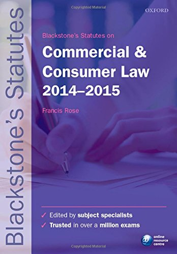 9780198709503: Blackstone's Statutes on Commercial & Consumer Law 2014-2015 (Blackstone's Statute Series)