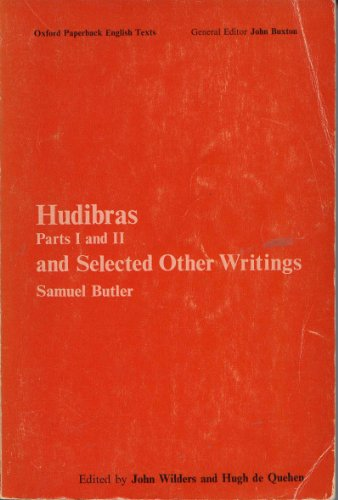 Hudibras: Parts 1 and 2 and Selected: Butler, Samuel