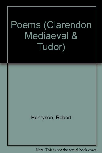 9780198710912: Poems (Clarendon Medieval and Tudor Series)