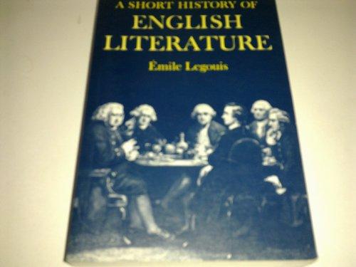 9780198710950: A Short History of English Literature
