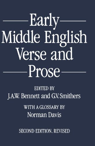 9780198711018: Early Middle English Verse and Prose