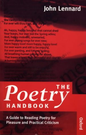 9780198711490: The Poetry Handbook: A Guide to Reading Poetry for Pleasure and Practical Criticism