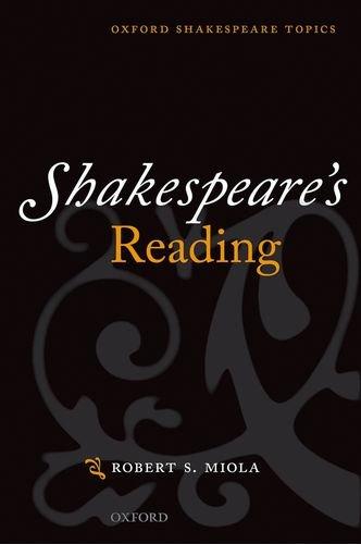 9780198711681: Shakespeare's Reading (Oxford Shakespeare Topics)