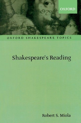 9780198711698: Shakespeare's Reading (Oxford Shakespeare Topics)