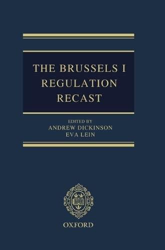 9780198714286: The Brussels I Regulation Recast