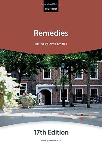 9780198714422: Remedies (Blackstone Bar Manual)