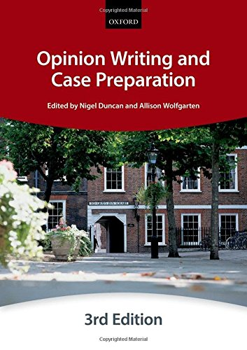 9780198714439: Opinion Writing and Case Preparation (Bar Manuals)