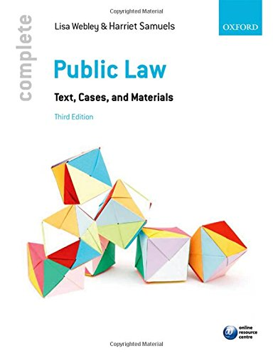 9780198714491: Complete Public Law: Text, Cases, and Materials