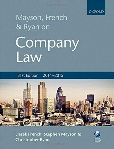 9780198716532: Mayson, French & Ryan on Company Law