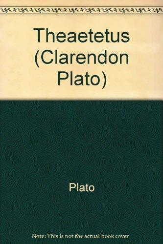 9780198720430: Theaetetus (Clarendon Plato Series)