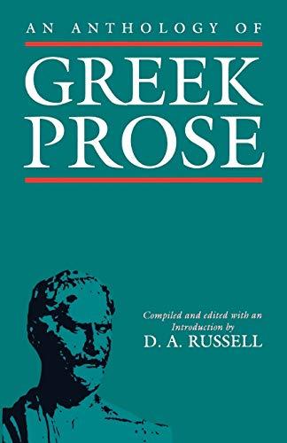 9780198721222: An Anthology of Greek Prose