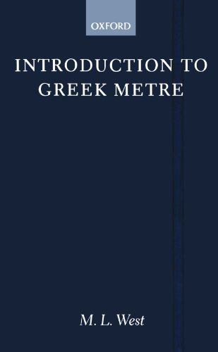 9780198721291: Introduction to Greek Metre
